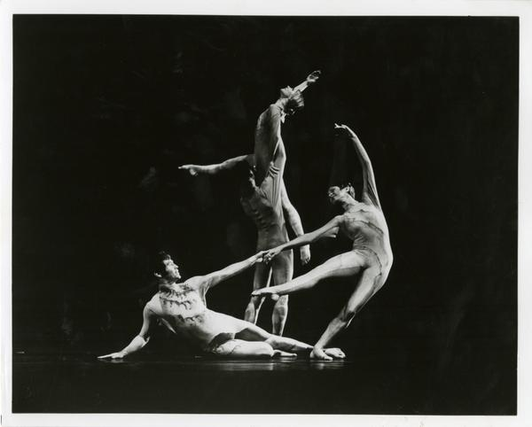"Members of the UCLA Dance Company performing ""Continuing,"" 1976"