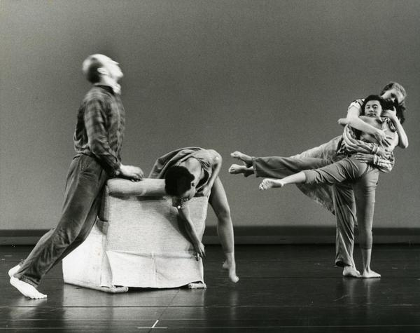 """Members of the UCLA Dance Company performing """"Family,"""" 1989"""