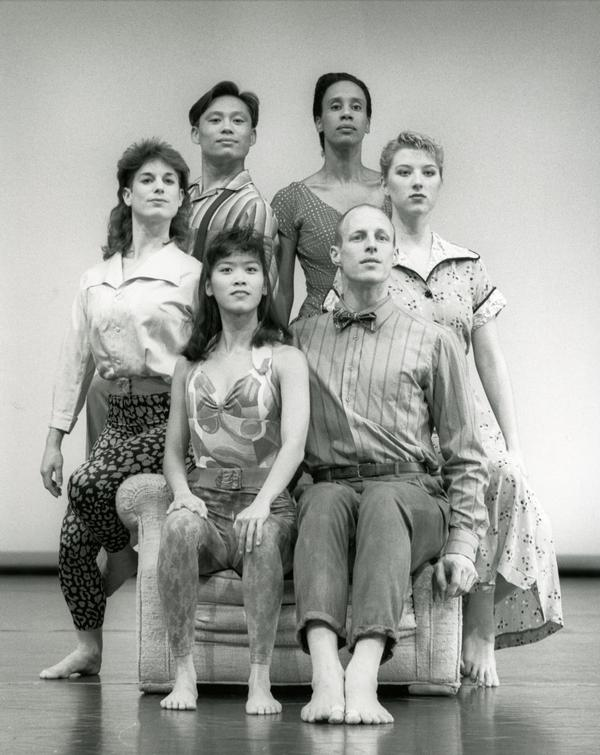 "Members of the UCLA Dance Company performing ""Family,"" 1989"