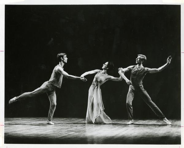 "Members of the UCLA Dance Company performing ""Aubade,"" ca. 1980's"