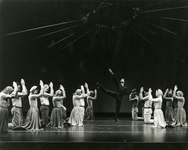 Members of the 1989-1990 UCLA Dance Company in a performance