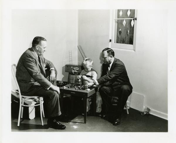 UCLA Children's Clinic Psychologist Marion Davies with a child patient