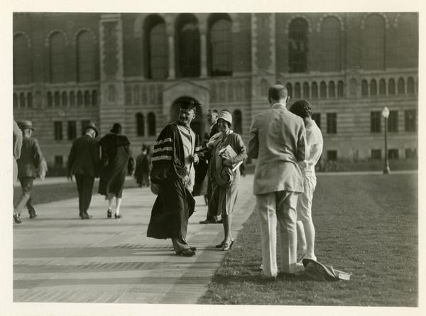 Guests at the dedication of the Westwood campus, March 1930