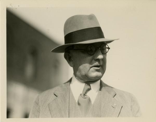 Regent John R. Haynes at the dedication of the Westwood campus, March 1930