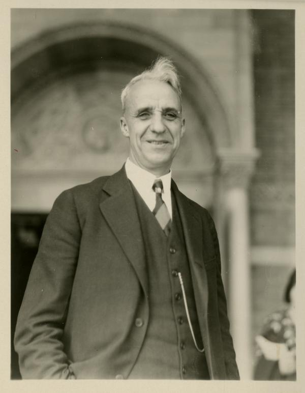 Unidentified guest at the dedication of the Westwood campus, March 1930