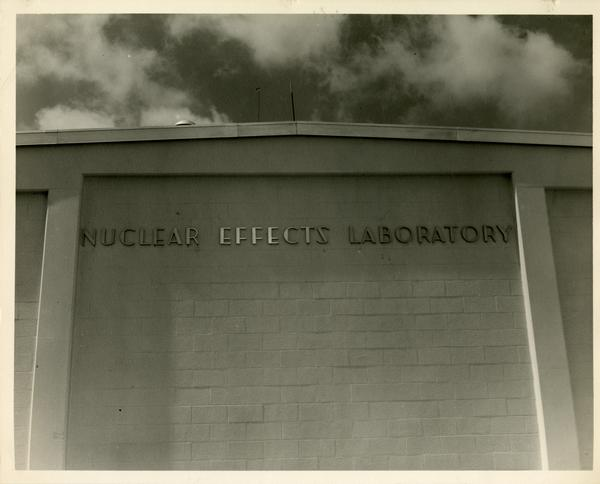 Exterior of the Nuclear Effects Laboratory at the White Sands Missile Range in New Mexico, ca. 1965