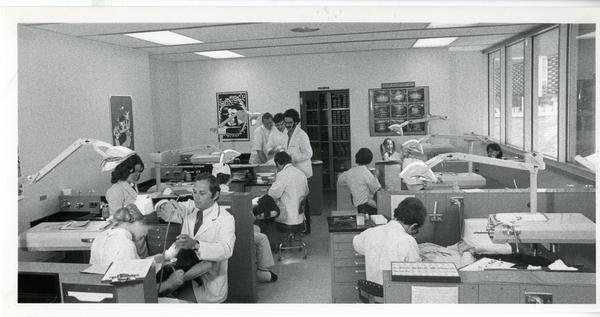 UCLA dentists working with patients in an office