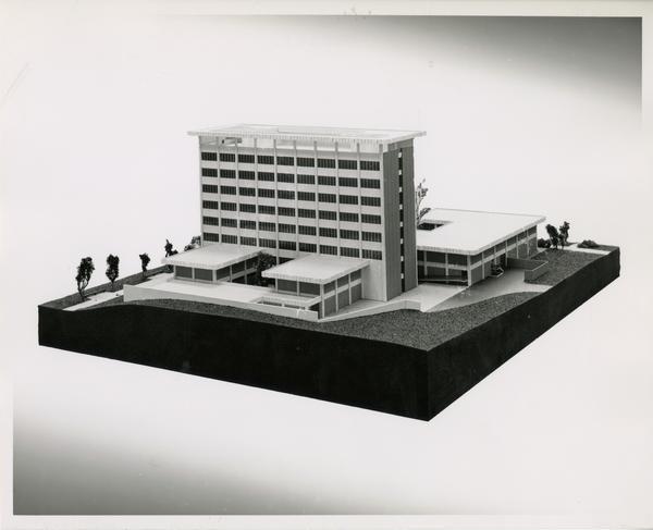 Model of the Dickson Art Center, 1963