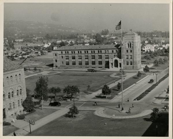 Dodd Hall exterior, Ca. 1950