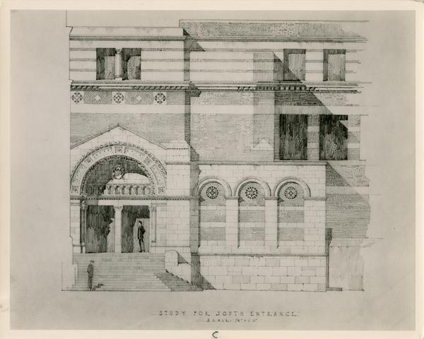 Study for South Entrance of Business Administration and Economics Building, ca. 1948