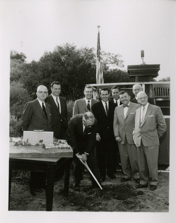 Groundbreaking ceremony for Dykstra Hall, March 1958