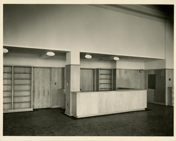 Reception desk in the Education/Psychology Library