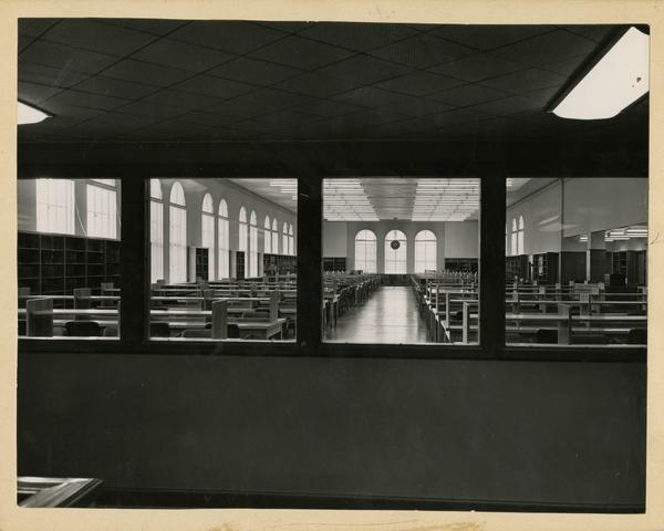 View of the reading room from the Education/Psychology Library
