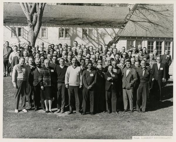 Group photo of men and women of the engineering department