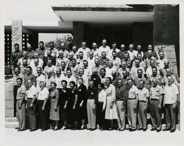 Group graduation photograph of participants of Western Regional Leadership Laboratory, 1960