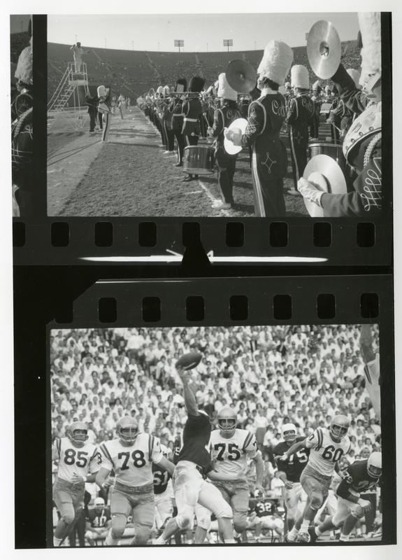 Contact prints of scenes at football game