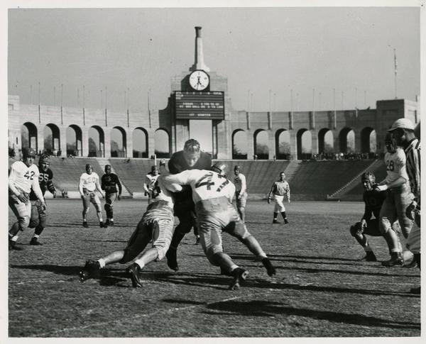 UCLA Football game action, 1938