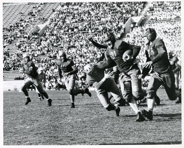 UCLA football game action, 1941