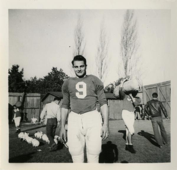 UCLA football player, Ernie Case, ca. 1946