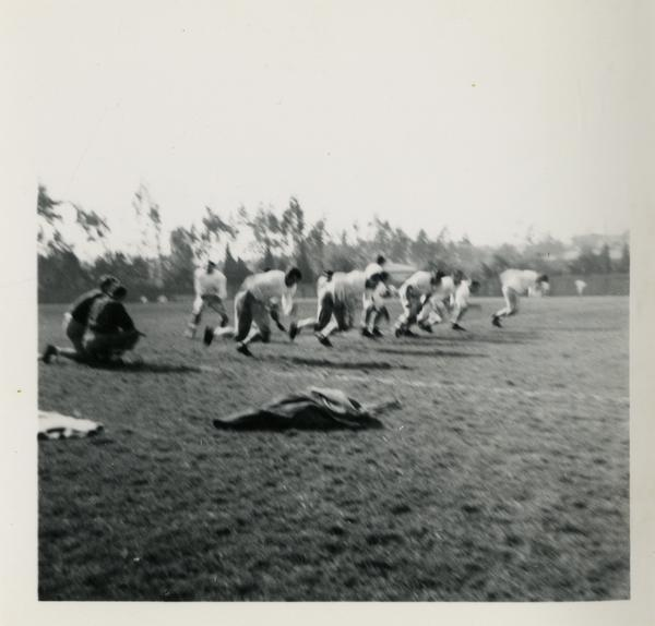 UCLA football team on the field during practice