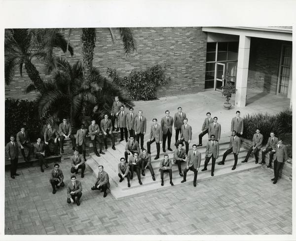 UCLA football team group portrait, ca. 1960s