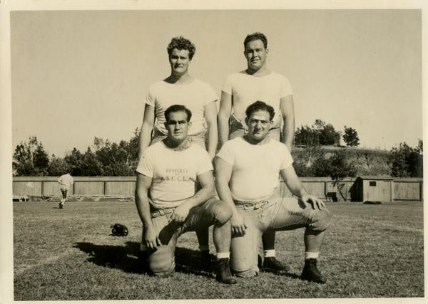 UCLA football players, ca. 1940's