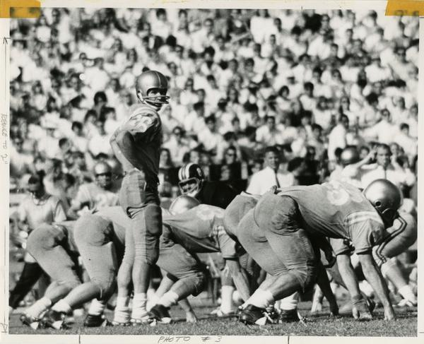 UCLA football player Gary Beban during a game