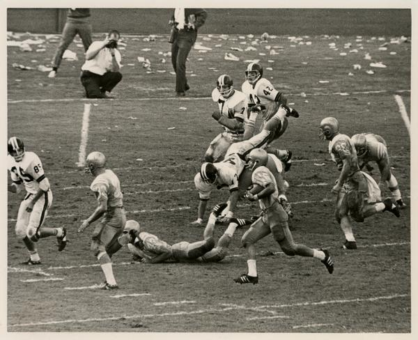 UCLA football player Gary Beban during a game