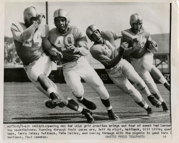 UCLA football opening day of practice, 1953