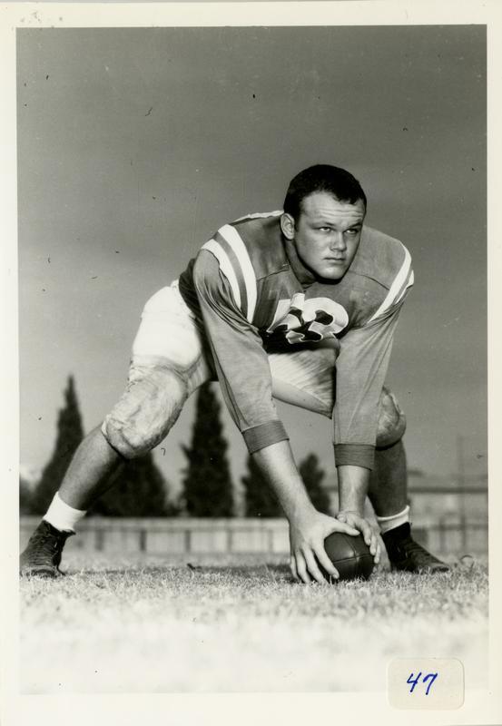UCLA player Paul W. Sandberg, 1947