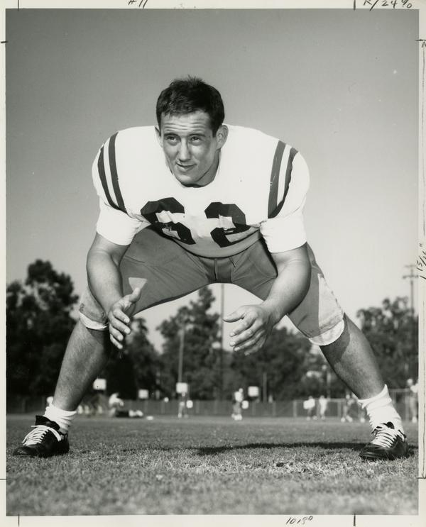 UCLA defensive right tackle, Alan Claman, 1966