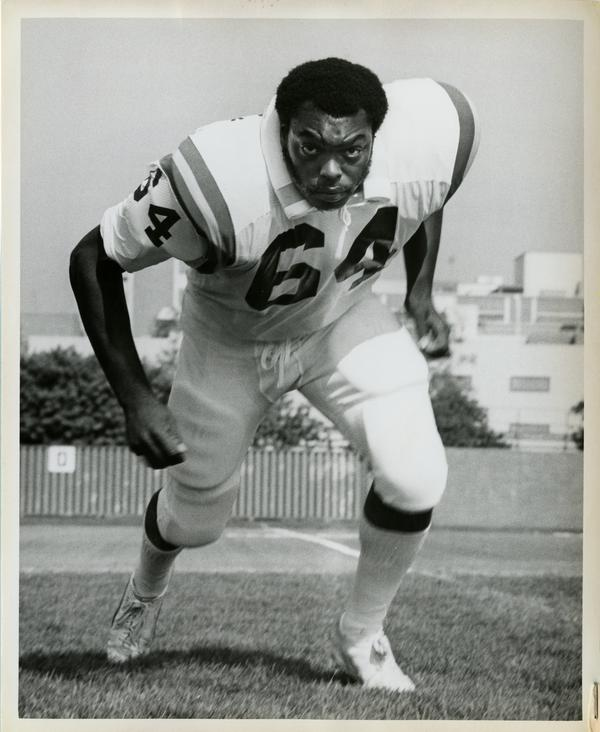 UCLA offensive left tackle Gene Clark, 1974