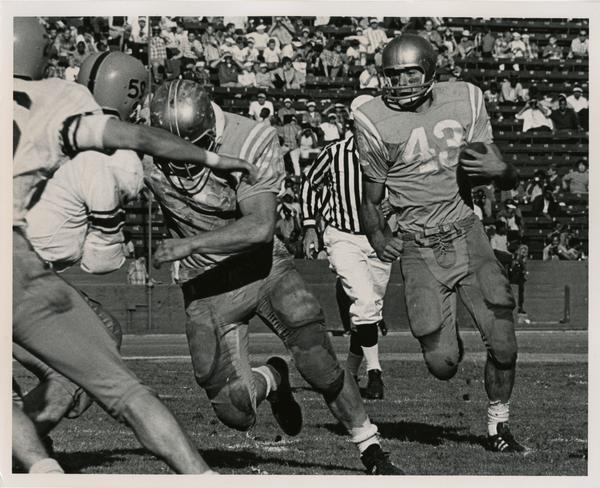 UCLA offensive left halfback Greg Jones at the LA Coliseum, 1967