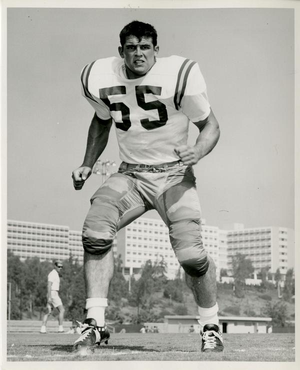 UCLA left linebacker Don Widmer at practice, 1967