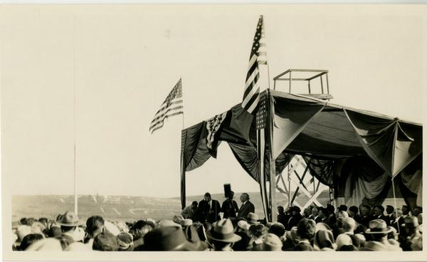 Scene at Dedication of new campus, October 1926