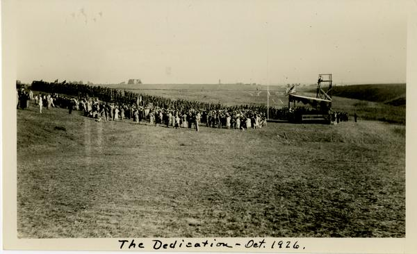 View of crowd at Dedication of new campus, October 1926