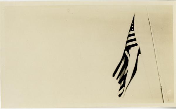 Flag raised at Dedication of new campus, October 1926