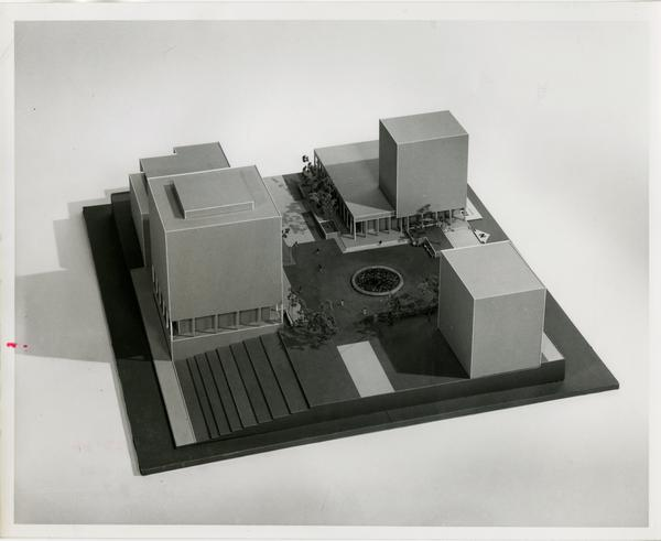 Model of the Franz Hall Graduate Research Unit project