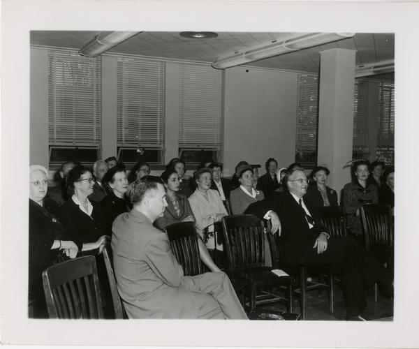 View of audience at Friends of the UCLA Library event