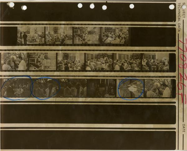 Contact sheet of Friends of the UCLA Library, ca. 1978-1981