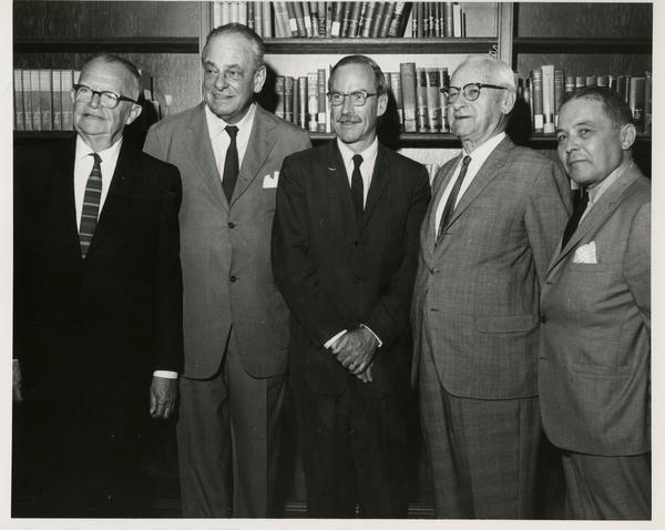 Maye Ewing, Robert Vosper, and unidentified men, ca. 1966
