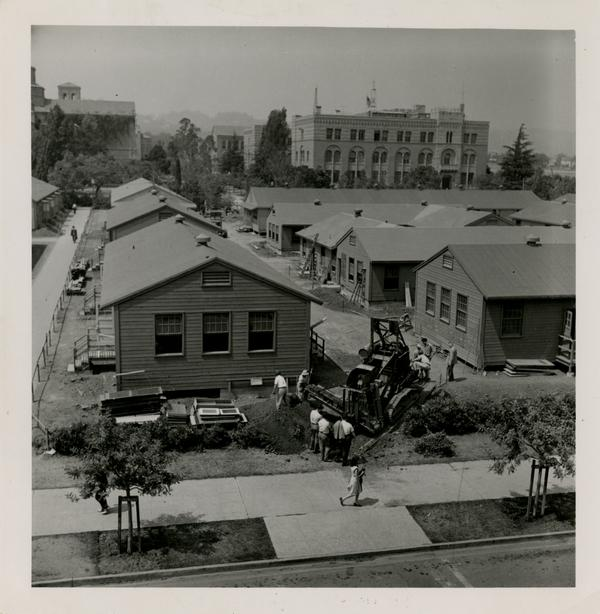Temporary buildings in South Campus, ca. 1940s