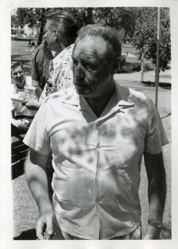 Richard Logan at the geography department picnic
