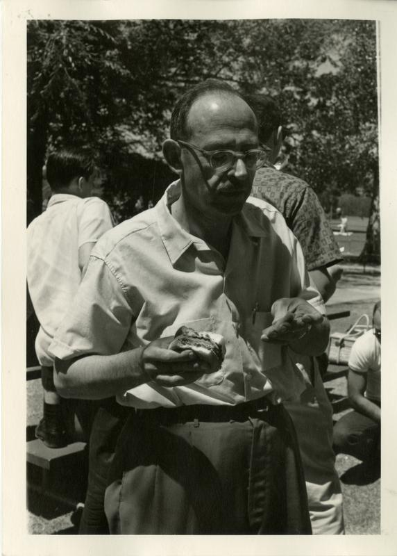Unidentified man at the geography department picnic