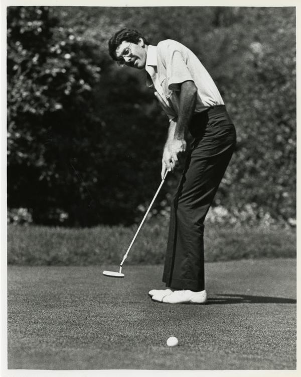 Golfer Brian Mahon of the UCLA Golf team, 1985