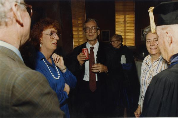 David Cattell, Lois Crouch and others at PhD Hooding Ceremony, June 1988