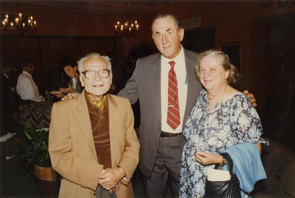 Joseph Gengerelli , Arthur and Mrs. Schroeder at Emeriti Reception, June 1988