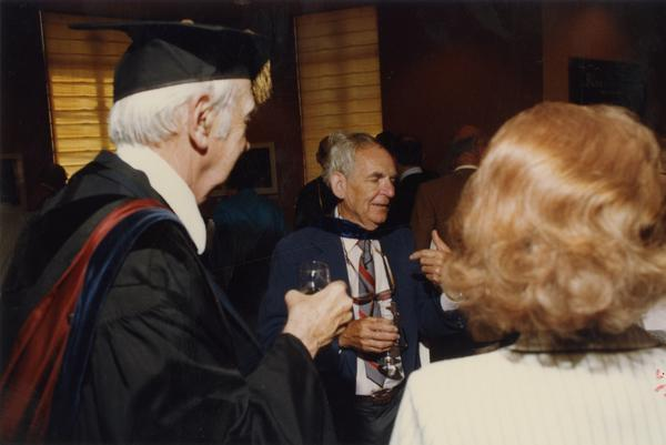 Valentine and others speak at reception, June 1988
