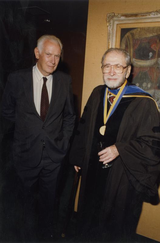 John Cron and Marion Zeitlen at gathering for PhD Hooding Ceremony, June 1988