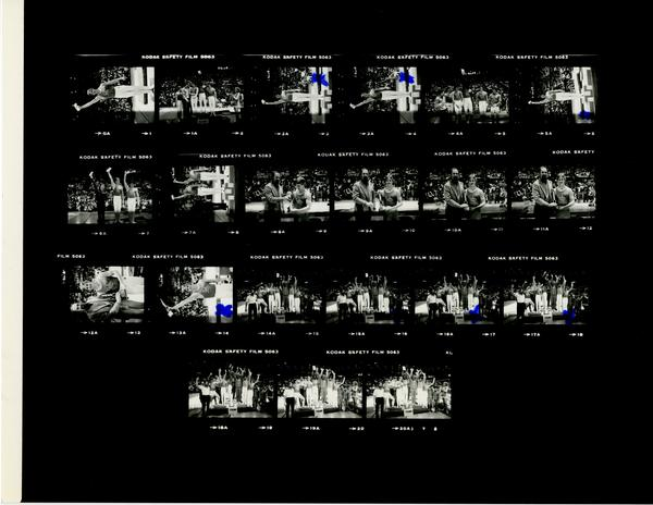 Contact sheet of Gymnastic Invitational, January 30, 1981